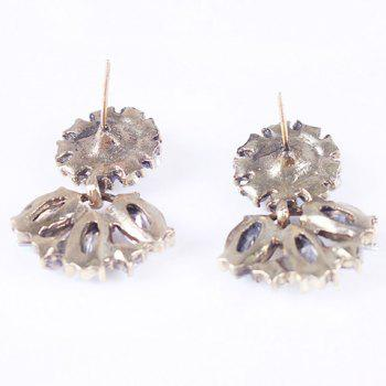 Pair of Faux Crystal Embellished Earrings - WHITE