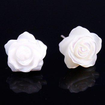 Pair of Floral Faux Shell Earrings