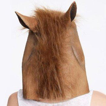 Masque de cheval de Halloween Gangnam Style Cosplay Prop pour Fancy Ball Party Show - Brun