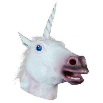 Unicorn Mask Cosplay Prop For Fancy Ball Party Show - WHITE
