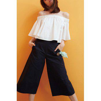 Off The Shoulder Elastic T Shirt