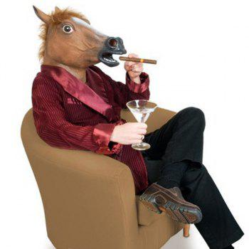 Halloween Horse Mask Gangnam Style Cosplay Prop For Fancy Ball Party Show - BROWN BROWN