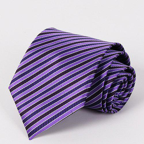 Stylish Purple Twill Jacquard Business Wear Men's Tie - PURPLE