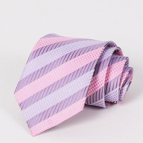 Stylish Various Twill Jacquard Men's Mild Color Tie - LIGHT PURPLE
