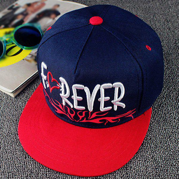 Stylish Letters and Heart Embroidery Gothic Style Men's Baseball Cap - CADETBLUE