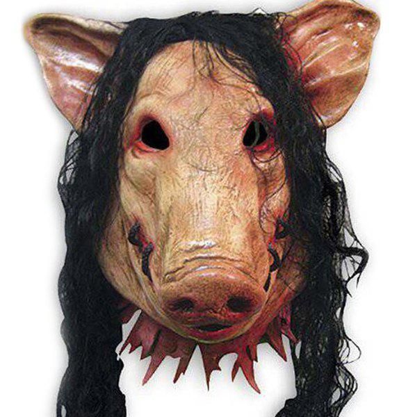 Halloween Hair Pig Mask Cosplay Prop For Fancy Ball Party Spirit Festival creative halloween ufo aliens latex mask cosplay prop for fancy ball party show
