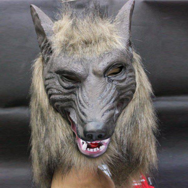 Halloween Wolf Latex Mask Cosplay Prop For Fancy Ball Party Show creative halloween ufo aliens latex mask cosplay prop for fancy ball party show