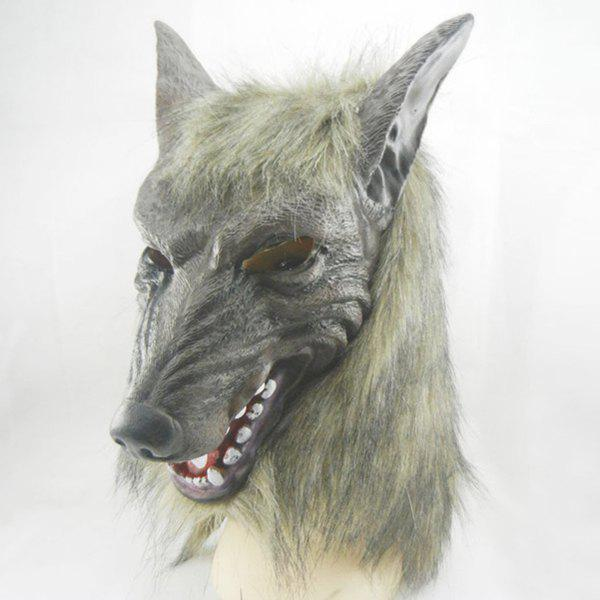Halloween Wolf Latex Mask Cosplay Prop For Fancy Ball Party Show - COLORMIX