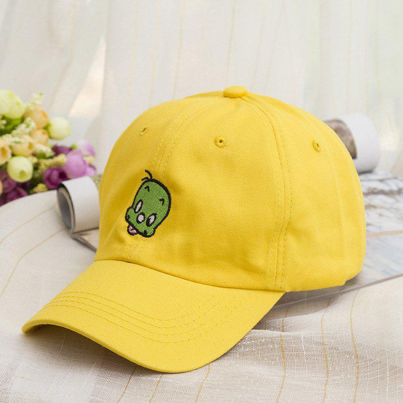Fashion Funny Cartoon Embroidery Candy Color Baseball Cap - YELLOW
