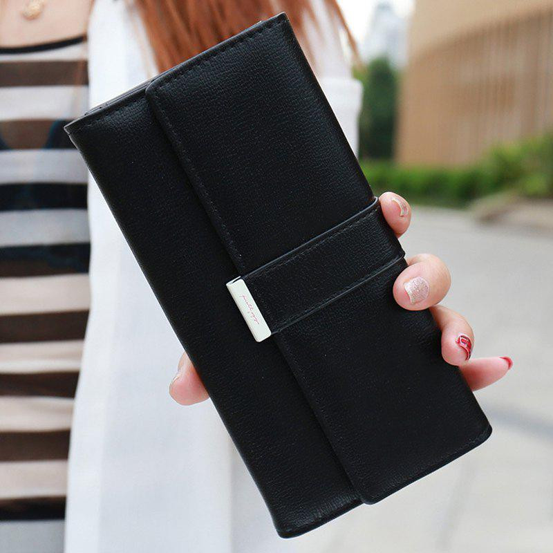 Sweet Candy Color and PU Leather Design Women's Wallet