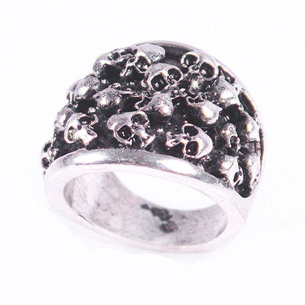 Vintage Skull Shape Ring For Men - ONE-SIZE SILVER