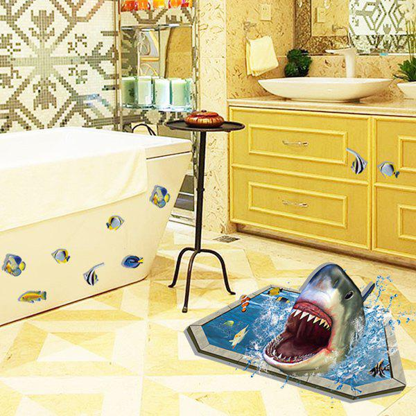 Special 3D Shark Underwater World Wall Stick - COLORMIX