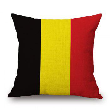 2016 Stylish European Cup Belgian Flag Pattern Square Shape Flax Cushion Cover