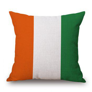 2016 Stylish European Cup Irish Flag Pattern Square Shape Flax Cushion Cover