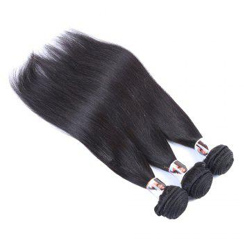 3 Pcs/Lot 5A Remy Hair Fashion Straight Natural Black Women's Indian Human Hair Weave Bundle
