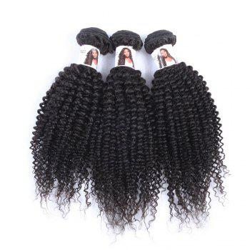 Vogue Kinky Curly Black 3 Pcs/Lot 5A Remy Indaian Hair Weave Bundle For Women - BLACK 22INCH*22INCH*24INCH