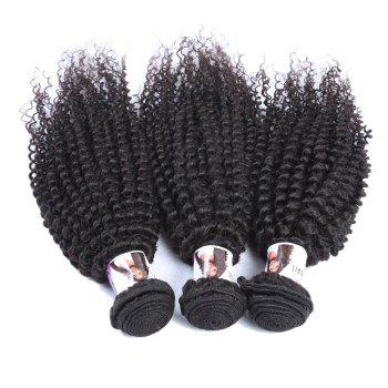 Vogue Kinky Curly Black 3 Pcs/Lot 5A Remy Indaian Hair Weave Bundle For Women - 22INCH*22INCH*24INCH 22INCH*22INCH*24INCH