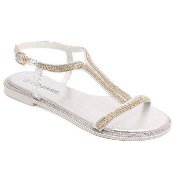 Simple Rhinestones and Chain Design Women's Sandals