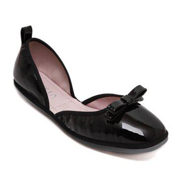 Casual Bow and Square Toe Design Women's Flat Shoes