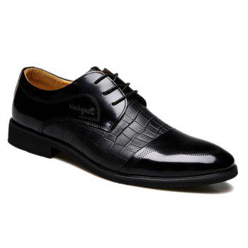 Trendy Crocodile Print and Splicing Design Men's Formal Shoes