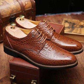 Trendy Crocodile Print et chaussures formelles Lace-Up Design Men  's - Brun 44