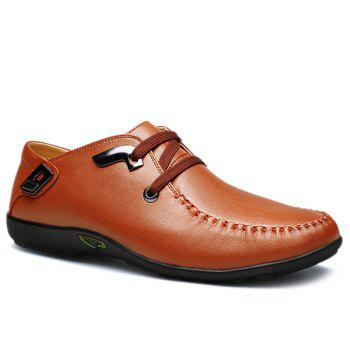 Trendy Lace-Up and Metal Design Men's Casual Shoes