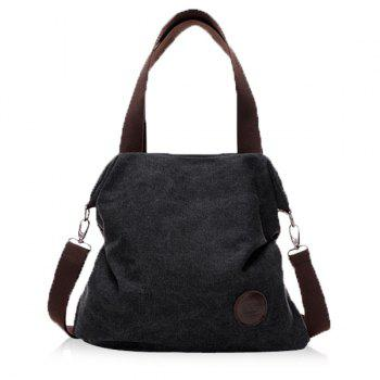 Casual Canvas and Solid Color Design Women's Tote Bag