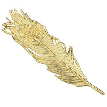 Vintage Solid Color Feather Hairpin For Women