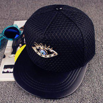 Street Fashion Hipsters Rhinestone Eye Shape and Mesh Embellished Baseball Cap