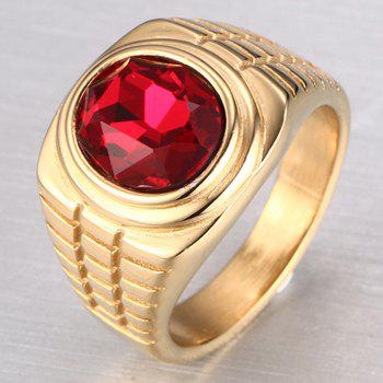 Trendy Embellished Rhinestone Ring For Men