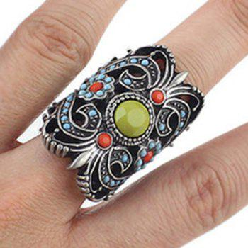 Vintage Hollow Out Carved Alloy Ring