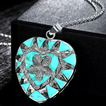 Noctilucence Heart Shaped Pendant Necklace