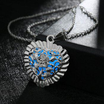 Noctilucence Geometric Heart Shape Flower Tree Pendant Necklace