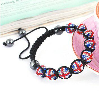 Beaded Weaving Union Flag Bracelet
