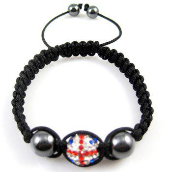 Weaving Union Flag Design Beaded Bracelet