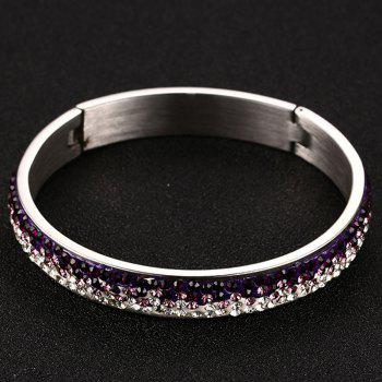 Rhinestone Jewelry Bracelet - WHITE/PURPLE