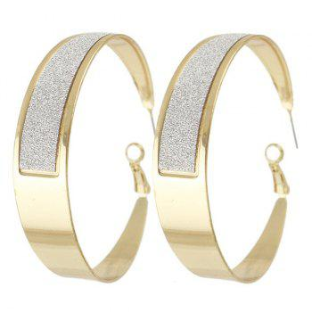 Pair of Polished Hoop Earrings