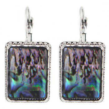 Pair of Rectangle Faux Gem Earrings