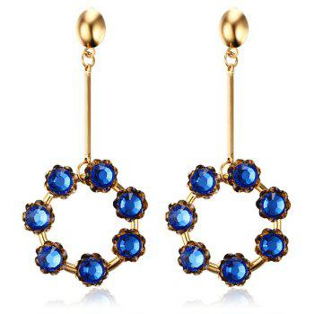 Pair of Vintage Rhinestone Embellished Circular Pendant Earrings