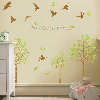 Stylish Tree and Birds Pattern Wall Sticker For Livingroom Bedroom Decoration - COLORMIX