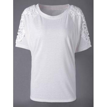 Elegant Women's Bud Silk Round Collar Short Sleeve T-shirt