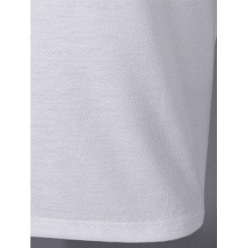 Elegant Women's Bud Silk Round Collar Short Sleeve T-shirt - WHITE S