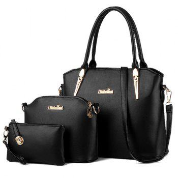 Charming Metal and Letter Design Women's Tote Bag