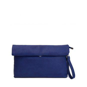 Concise Solid Color and Fold Down Design Clutch Bag For Women