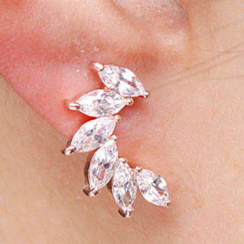 Pair of Noble Faux Crystal Stud Earrings For Women - GOLDEN
