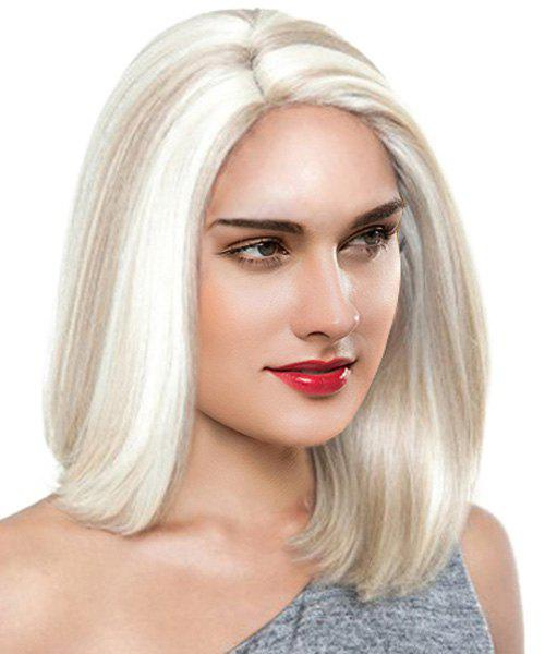 Stylish Medium Straight Mixed Color Heat Resistant Fiber Hair Wig For Women - COLORMIX