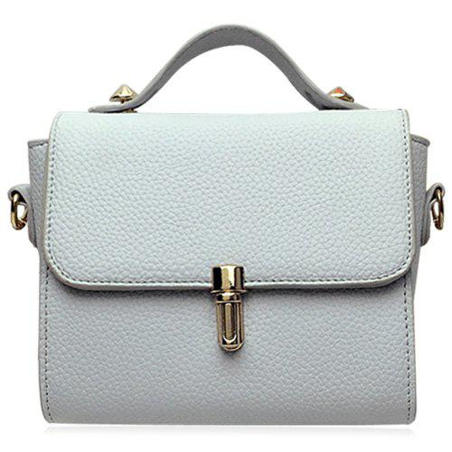 Simple Hasp and Solid Color Design Women's Tote Bag - LIGHT GRAY