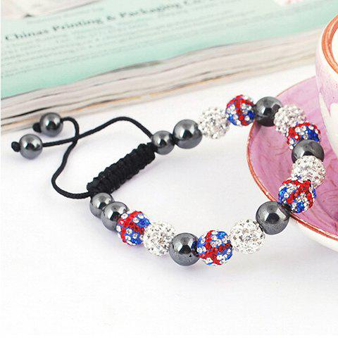 Hot Sale Union Flag Red White and Blue Beaded Bracelet fashion union flag red white and blue ball weaving bracelet