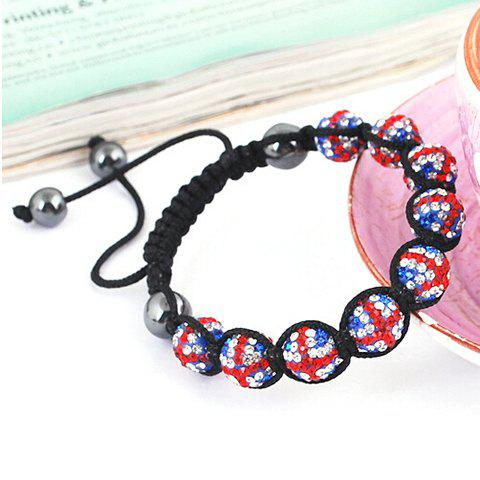 Hot Sale Union Flag Red White and Blue Beaded Weaving Bracelet
