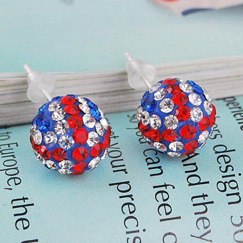 Pair of Union Flag Ball Shape Stud Earrings oushine protective oxford sleeve bag small bag for 13 3 macbook air blue